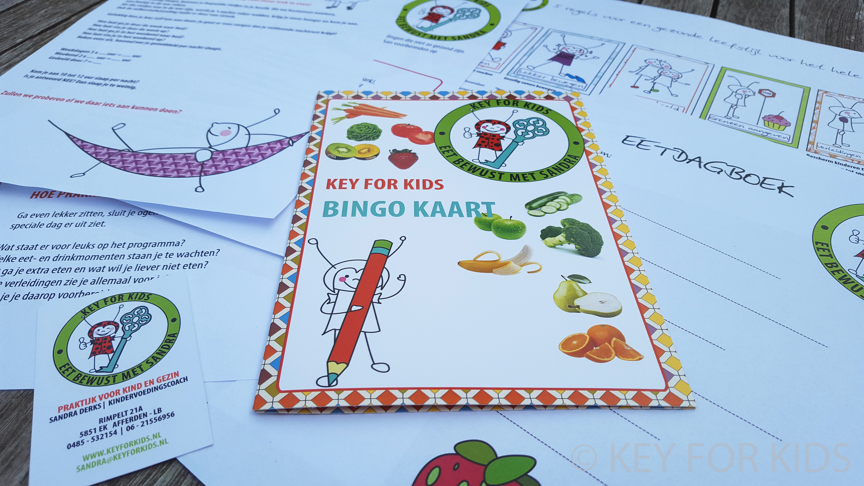 De Key For Kids bingokaart